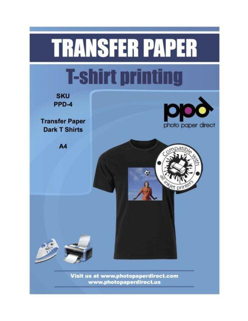 "PURPLE LINE LIGHT COLORS INK JET HEAT IRON ON TRANSFER PAPER 8.5X11/"" 10 SHEETS"