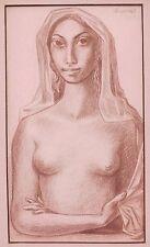 Fernando Oramas 1960 drawing beautiful nude woman Colombian artist Bogota