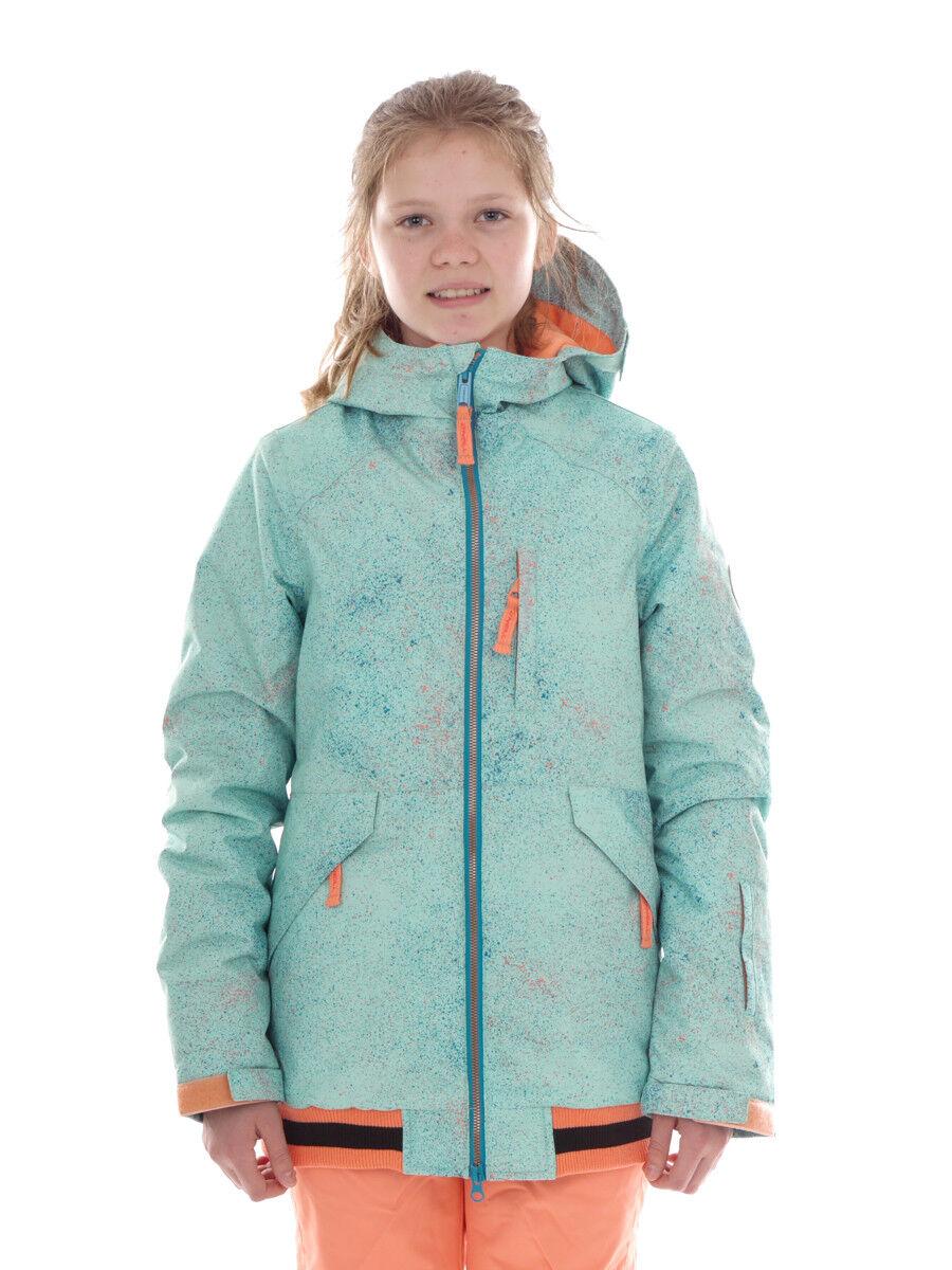 O'Neill Skijacke Snowboardjacke Blouson Gloss grün Kapuze Muster Logo