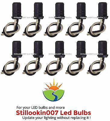10 X Replacement Light Sockets For 12v T5 Landscape Light Bulbs Push In Style Ebay