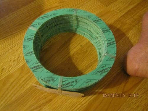 """5 NEW THERMOSEAL KLINGERSIL C-4401 GASKET RING  PIPE SIZE 6/"""" THICK 1//16/"""""""