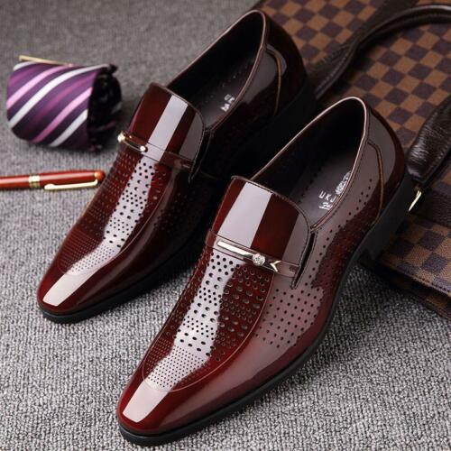 Formele formele metalen slip zakelijke decor neus lakleer Heren schoenen puntige XkZiuP