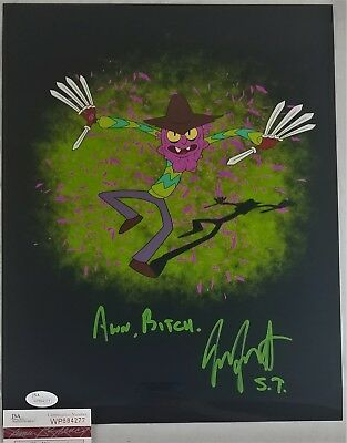 Entertainment Memorabilia Well-Educated Jess Harnell Signed 11x14 Photo Scary Terry Autograph Jsa Coa 277 Rick Morty