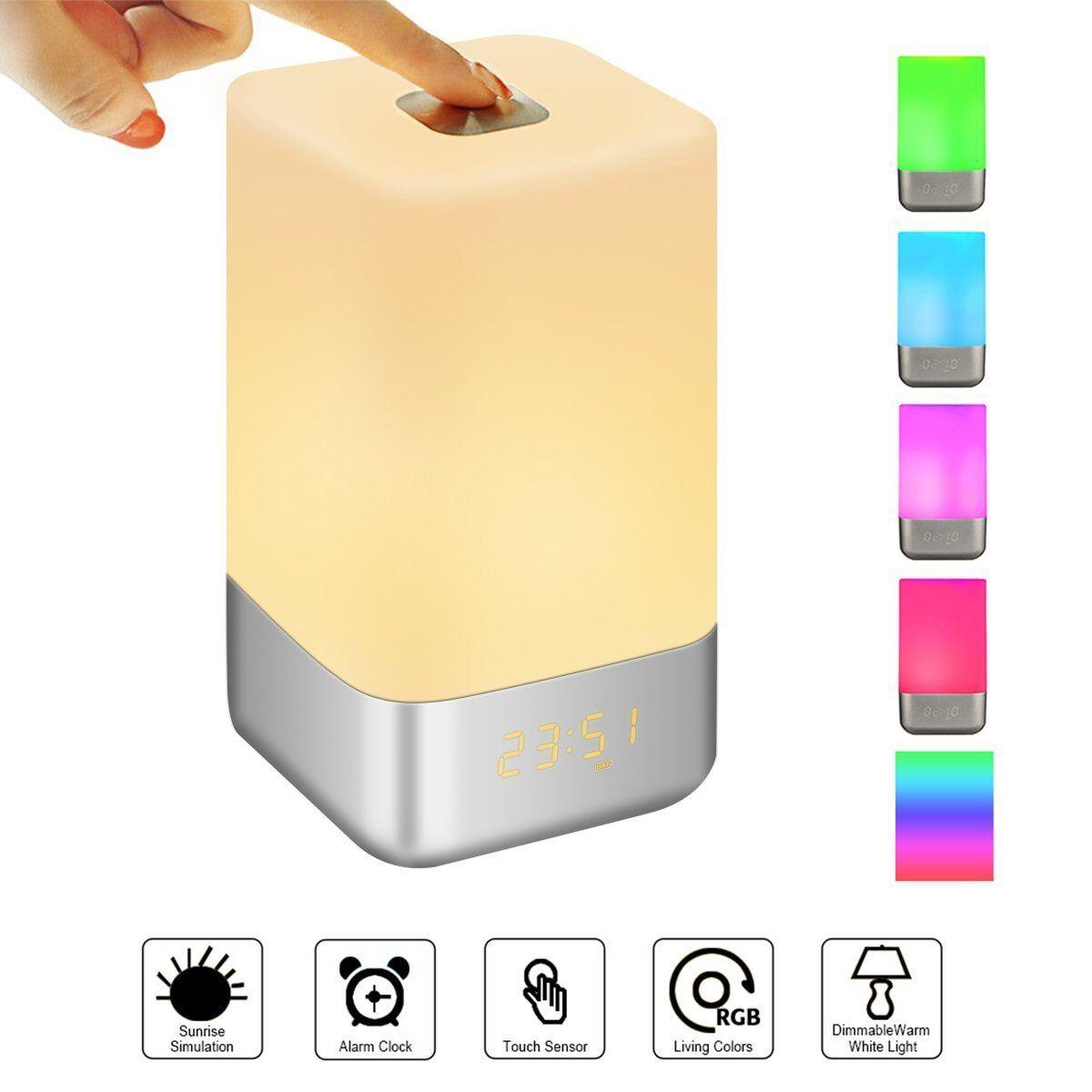 Lampara LED Despertador Recargable USB Sonidos Luces colors Variados Glime