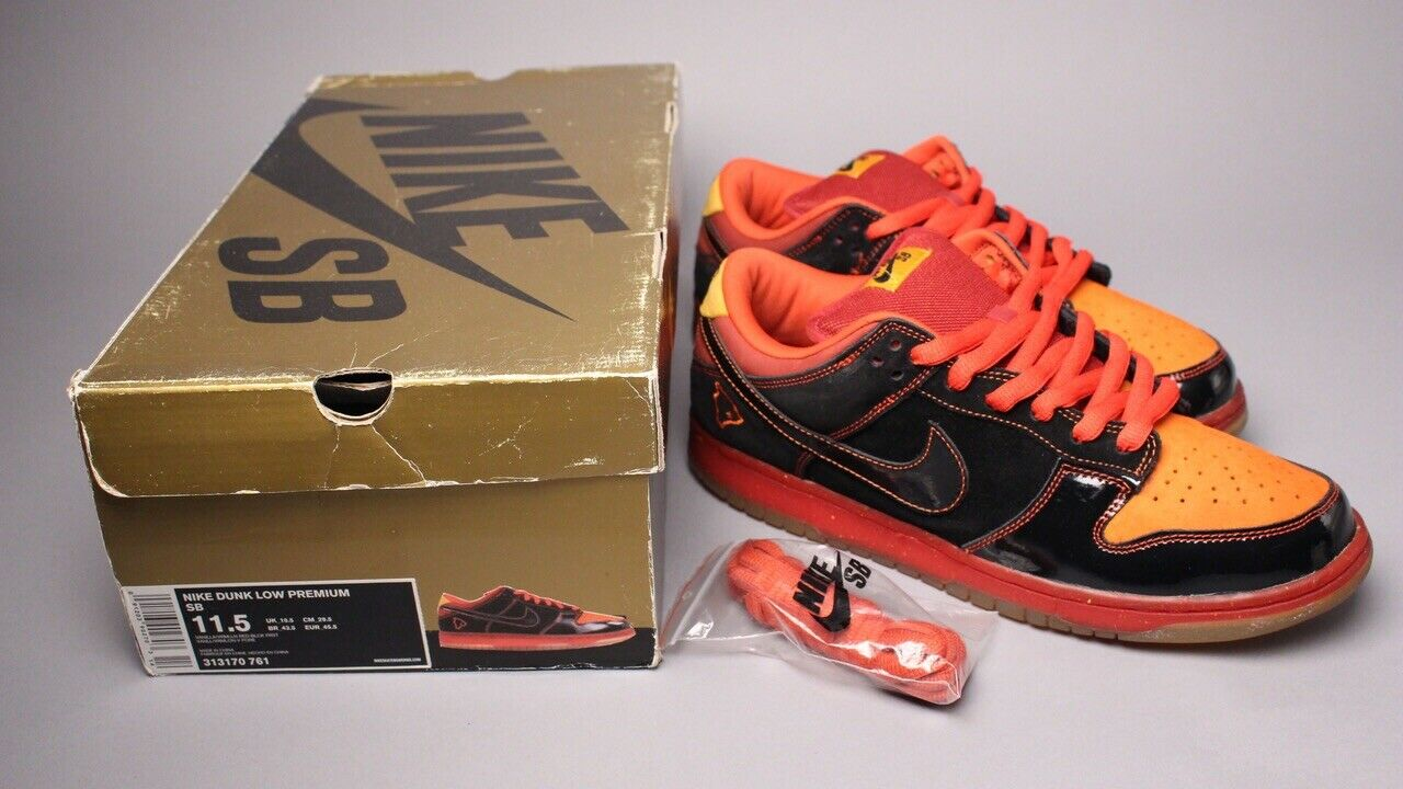 "Nike Dunk Low Premium SB ""Hawaii"" 313170-003 Size 11.5 Supreme Lobster Pigeon"
