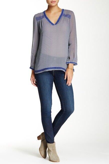 Joie Womens Jeans Midrise Skinny Ankle Denim Size 26 Raw   Released Hem New