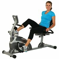 Extended Capacity Indoor Recumbent Exercise Bike W/ Pulse Home Fitness Exercise