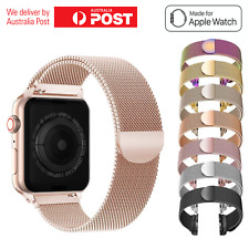 For Apple Watch Series 5,4,3,2,1 Milanese Magnetic Stainless Steel iWatch Band