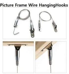 Ceiling Mount Picture Frame Wire Hanging Hooks Slanted ceiling ...
