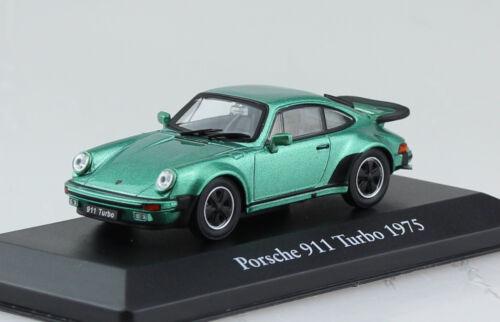 Porsche 911 turbo verde metalizado 1975 1:43 Atlas//Ixo//Altaya maqueta de coche