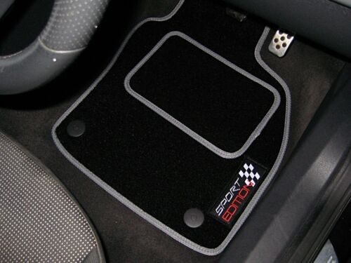2016 on Logos Black//Grey Sport Edition Car Mats To Fit Audi TT RS Mk3 Coupe
