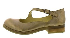 6e7e1d4c07c948 Fly London NEW Alky cool luna beige metallic gold low heel womens ...