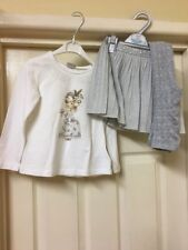 Mayoral Stunning Silver Sparkly Skirt Set Aged 4 With Matching Tights