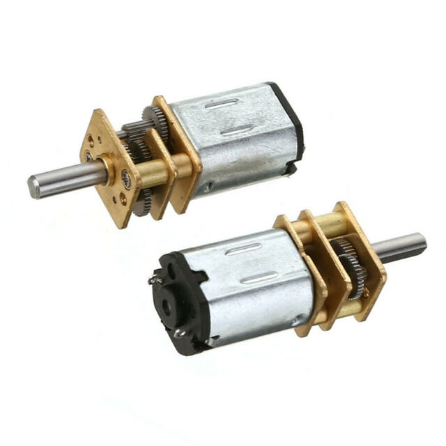 2PCS 30RPM Micro Speed Reduction Gear Motor DC 6V with Metal Gearbox Wheel N20