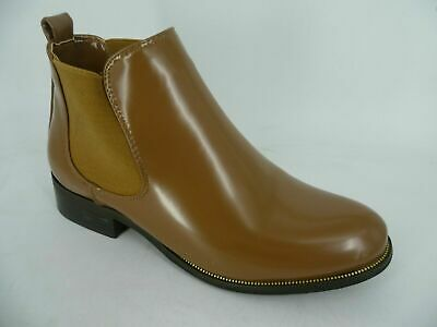 Ehrlichkeit Beauty Girls Patent Chelsea Boots Brown Apricot Uk 3 Eu 36 Ch13 08