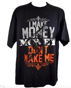 I-MAKE-MONEY-DON-039-T-MAKE-ME-Black-T-Shirt-Black-Orange-and-Grey