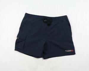 Vintage-90s-Nautica-Competition-Mens-Large-Spell-Out-Lined-Nylon-Shorts-Blue