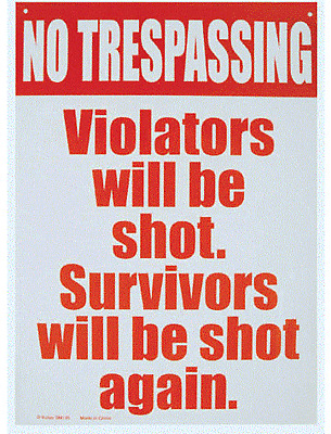"""joke Funny Sign adult Tin Sign 11.5/"""" X 8/""""    No Trespassing metal sign"""