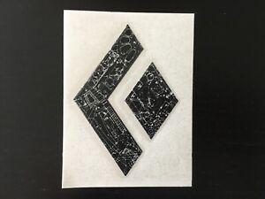 "Black Diamond Climbing stickers Black logo Sticker Decal Vinyl 4"""