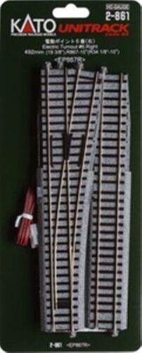 Kato 2-861 HO Unitrack #6 RH Electric Turnout