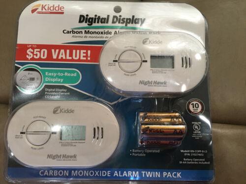 Kidde Carbon Monoxide Alarm 2 Pack New KN-COPP-B-LS Free Ship