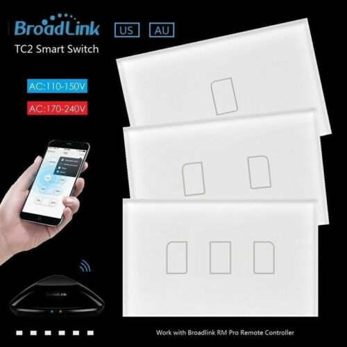 Broadlink TC2 1//2//3Gang 433 Radio Frequency US//AU Smart Home Touch Light Switche