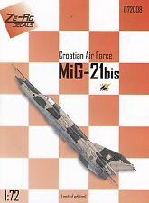 "zr72008/ Ze-Ro Decals - MiG-21bis - Kroatische Luftwaffe"" - 1/72"