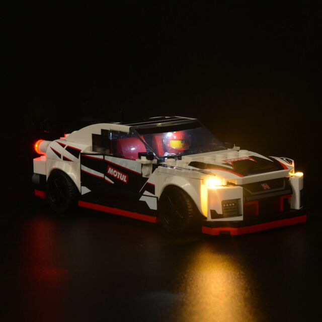 ONLY LED Light Lighting Kit For LEGO 76896 Speed Champions For Nissan GT-R  ﹊ ∑