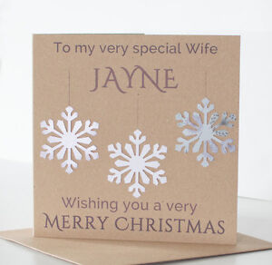 Handmade personalised christmas card wife special girlfriend husband image is loading handmade personalised christmas card wife special girlfriend husband m4hsunfo