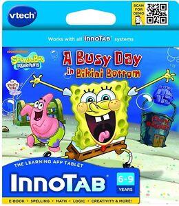 VTech-InnoTab-Software-SpongeBob-SquarePants-New-Free-Shipping