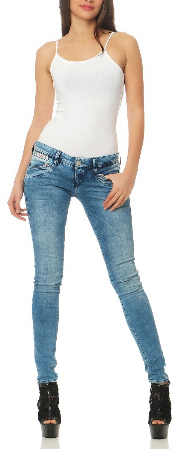 HERRLICHER - PIPER Slim Powerstretch - D9668 724 - Röhre Blau Damen Jeans Hose