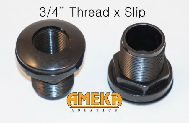 """3/4""""  0.75"""" Thread X Slip Quality Bulkhead Fitting by CPR with Silicone Washer"""