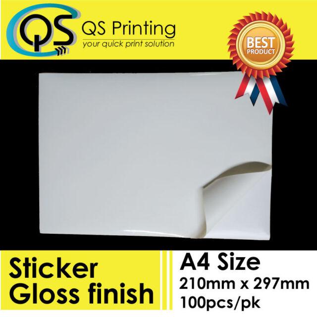 A4 Matte White Kraft Round Self Adhesive Sticker Print Label Paper Sheet DIY
