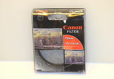 Genuine Canon 72mm UV Haze Protector Lens Filter NEW 2589A006
