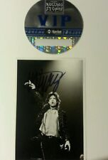 Mick Jagger Rolling Stones Autographed Signed Photo VIP pass Hot Rocks album Lp