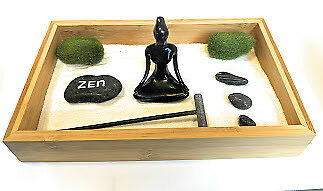 SkyeGarden Deluxe Zen Sand Garden 100/% Natural Bamboo Eco-Friendly