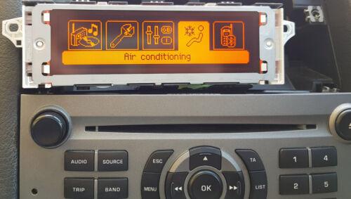 Peugeot 1007 207 308 3008 5008 RCZ RD4 Clock Radio Display Screen Genuine