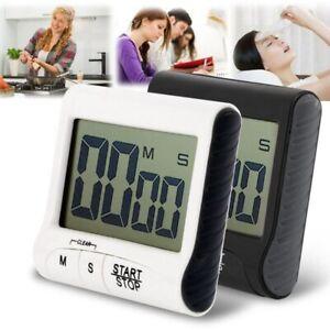 LCD-Digital-Magnetic-Kochen-Kueche-Timer-Kurzzeitmesser-Kuechenuhr-Eieruhr-Laut