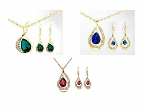 parties Any 3 for £15 gifts Crystal Gold Jewellery Sets ladies Weddings