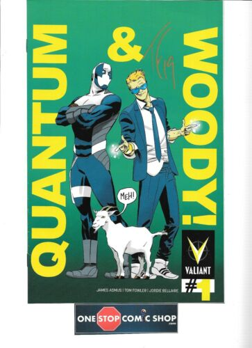 Quantum /& Woody #1 PULLBOX VARIANT signed Tom Fowler NM VALIANT HOT SERIES