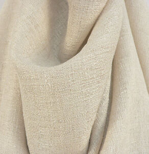 Drapery Upholstery Fabric 108 Extra Wide Nubby Textured Rustic