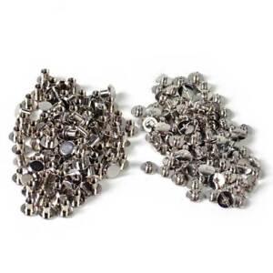 100-Stueck-Buchschrauben-5mm-Kopf-10mm-Silbern-Chicagoschrauben-Buchnieten-Neu