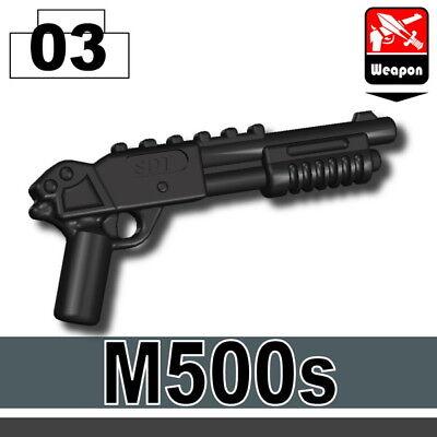 Black AK7x Assault Rifle for LEGO army military brick minifigures