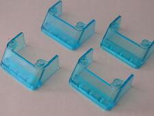 Lego 4 parebrises bleu trans 1472 2148 7892 3438 / 4 trans light blue windscreen