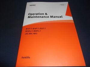 doosan b15t 7 b18t 7 b20t 7 b18tl 7 forklift operation maintenance rh ebay com Clip Art Operations Manual Operations Manual Examples