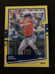 ALEX-BREGMAN-2020-Donruss-Yellow-Dollar-Tree-Parallel-SP-Astros