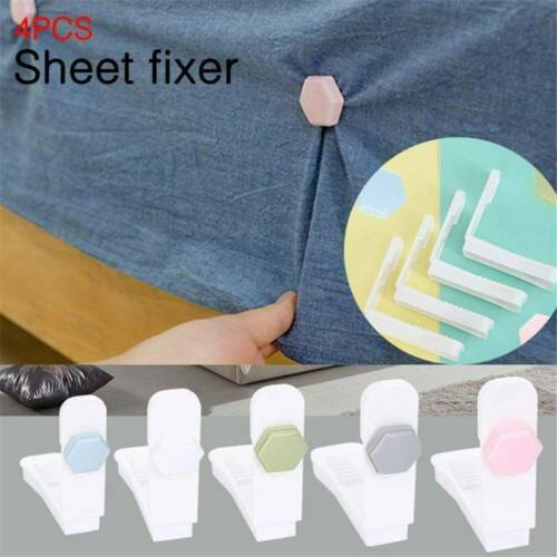 Bed Sheet Fixed Grippers Clip Tool Anti-slip 4Pcs//Kit Bed Sheet Grippers Clip