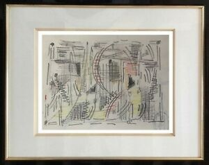 Poster-designer-renowned-xx-original-drawing-abstract-composition-1950-35