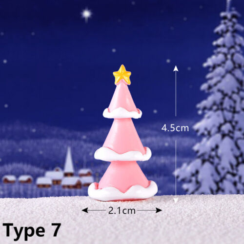 Garden Miniature Santa Claus Christmas Figurines Ice Cream Snowman Xmas Tree