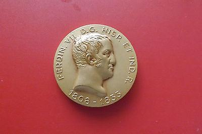 *spanische Bronzemedaille Ca.68,2g.-ca.52mm* Ferdinand Vii. (schub 22)
